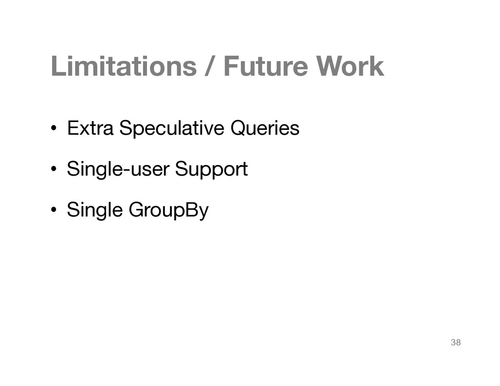 Limitations / Future Work