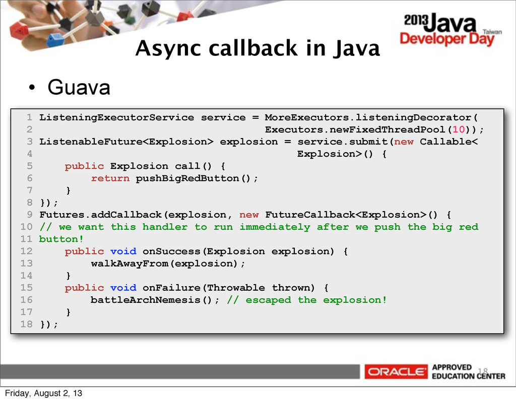 Async callback in Java • Guava 18 1 ListeningEx...