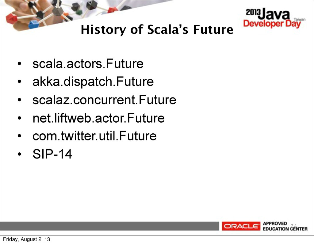 History of Scala's Future • scala.actors.Future...