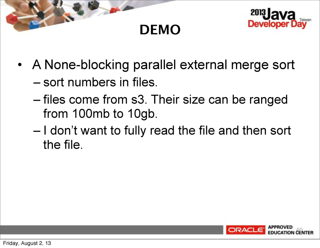 DEMO • A None-blocking parallel external merge ...