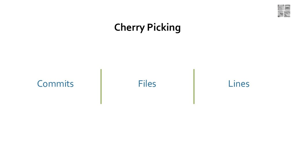 Cherry Picking Commits Files Lines