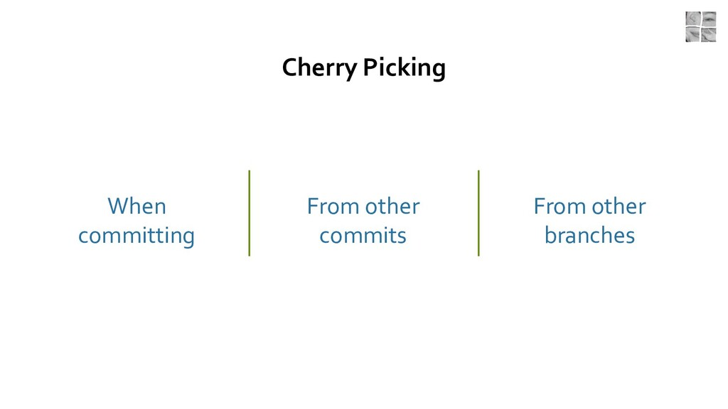 Cherry Picking When committing From other commi...