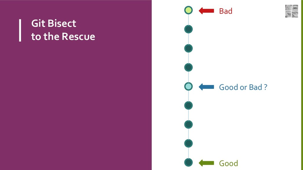 Git Bisect to the Rescue Bad Good Good or Bad ?