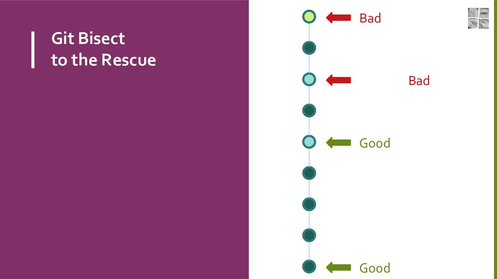 Git Bisect to the Rescue Bad Good Good or Bad ?...