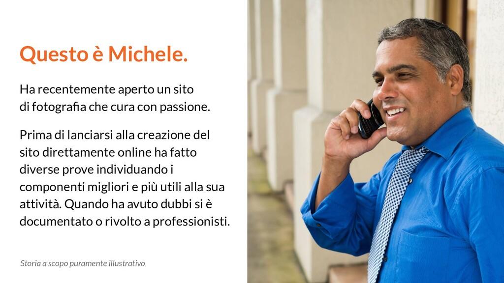 Questo è Michele. Ha recentemente aperto un sit...