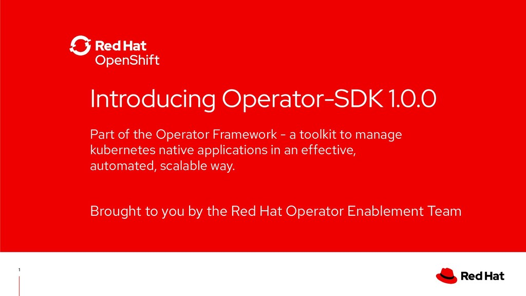Part of the Operator Framework - a toolkit to m...