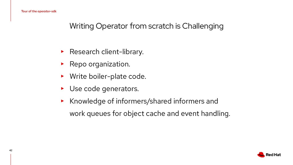 Tour of the operator-sdk Writing Operator from ...