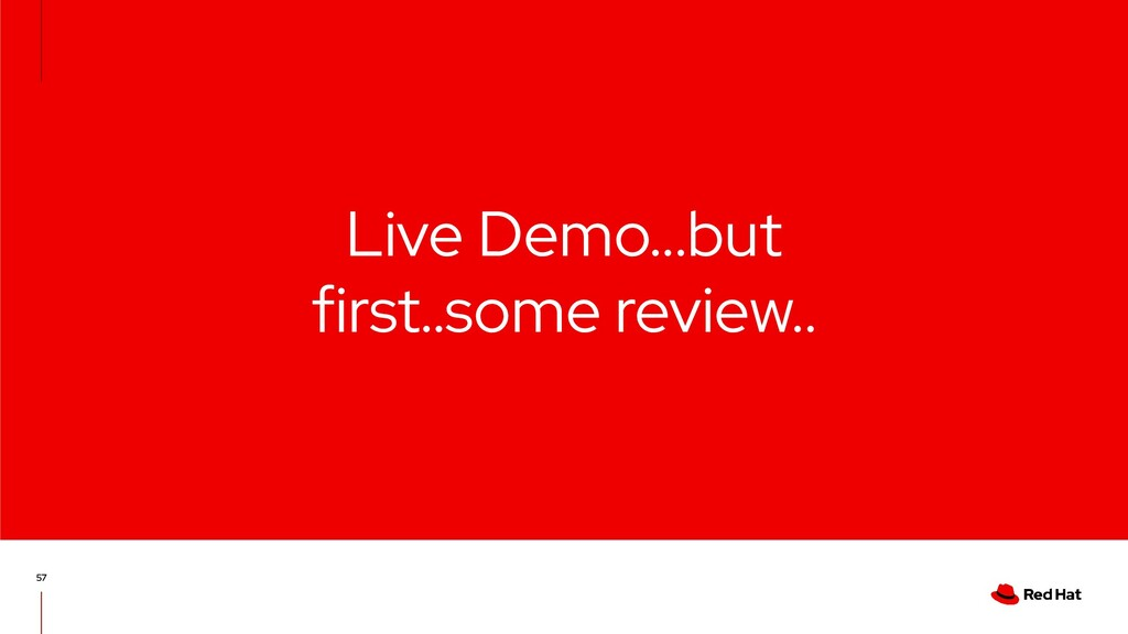Live Demo...but first..some review.. 57