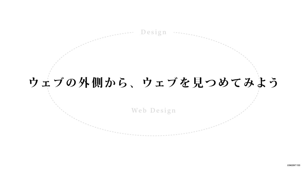De s i g n Web De s i g n ウェブの外 側から、ウェブを見 つめてみよ...