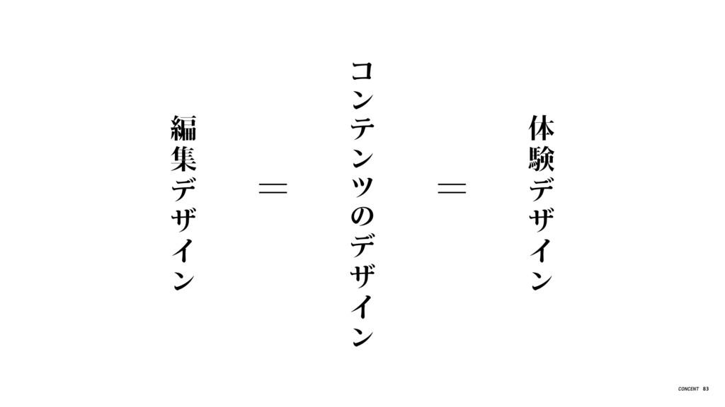 編 集 デ ザ イ ン コ ン テ ン ツ の デ ザ イ ン 体 験 デ ザ イ ン = =...