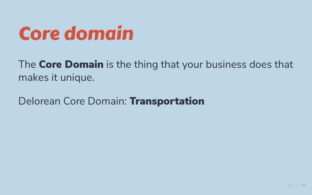 Core domain The Core Domain is the thing that y...