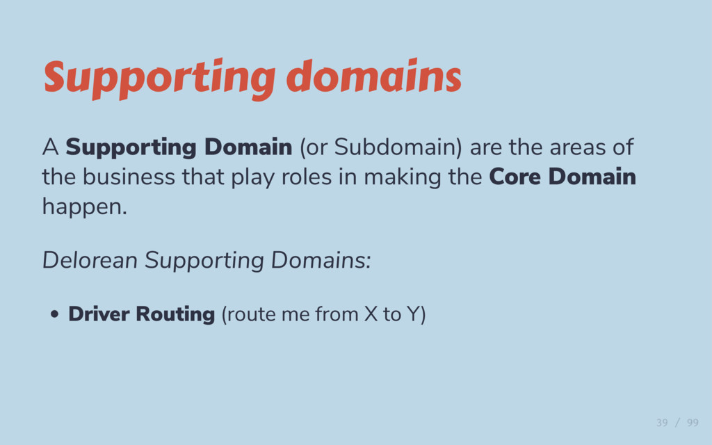 Supporting domains A Supporting Domain (or Subd...