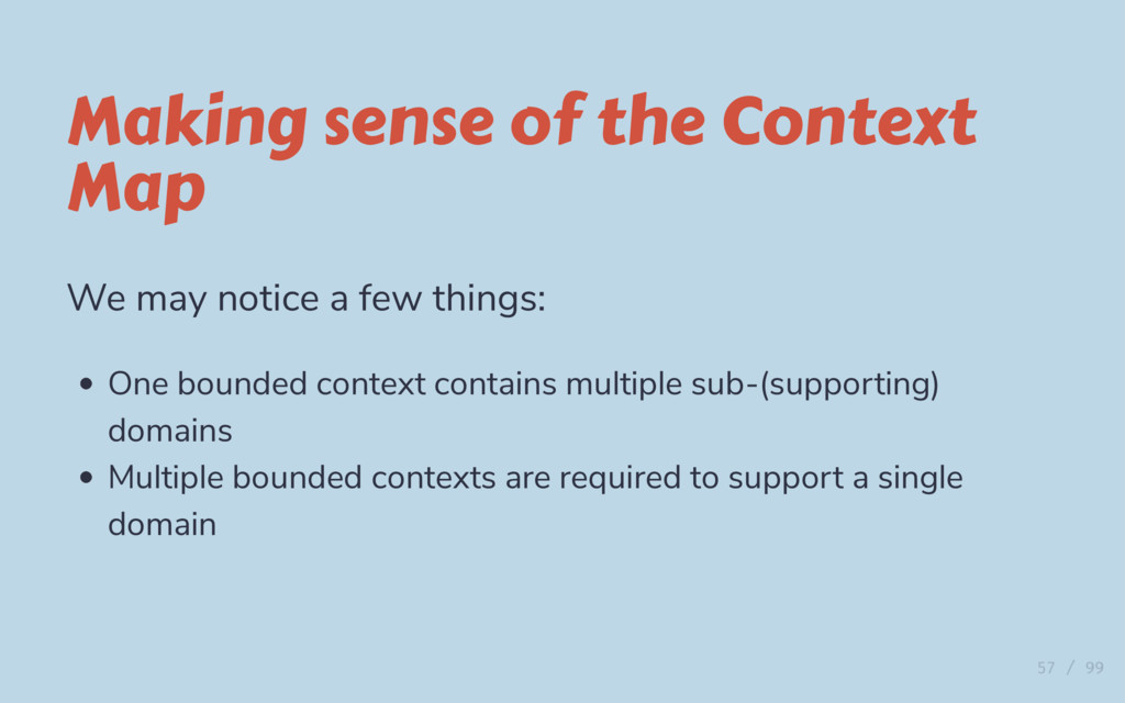 Making sense of the Context Map We may notice a...