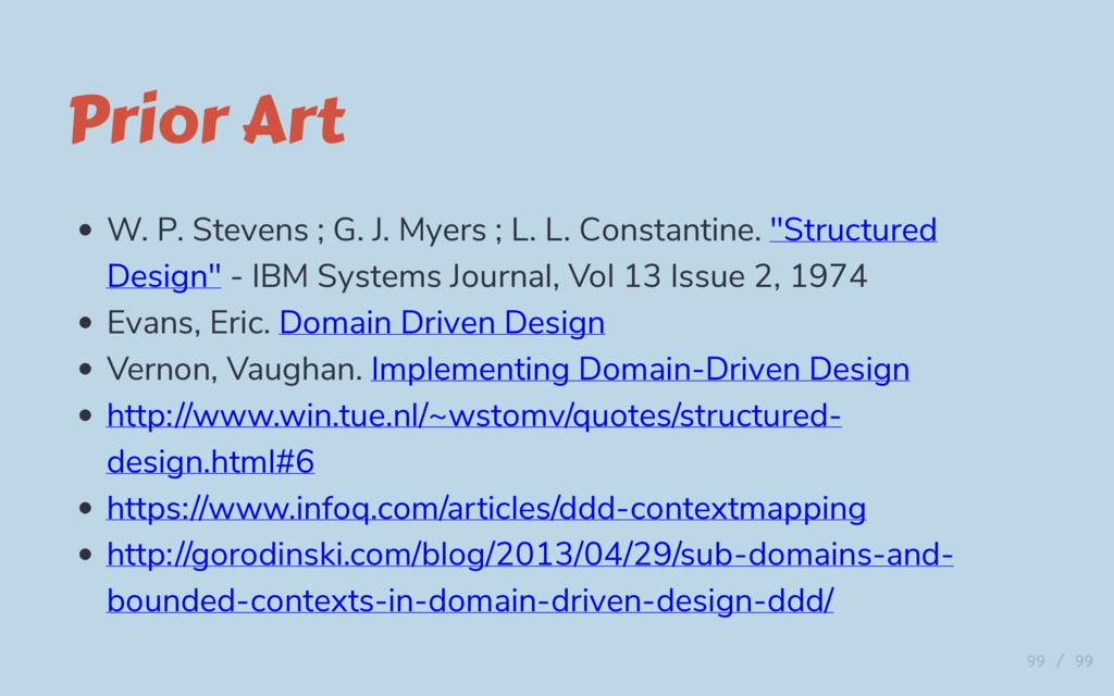 Prior Art W. P. Stevens ; G. J. Myers ; L. L. C...