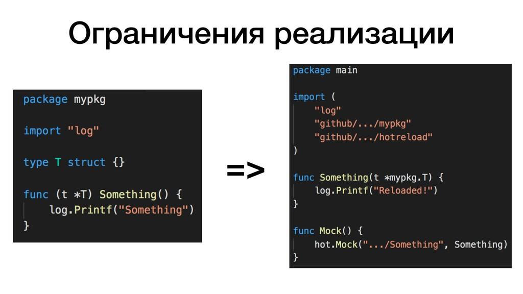 Ограничения реализации =>