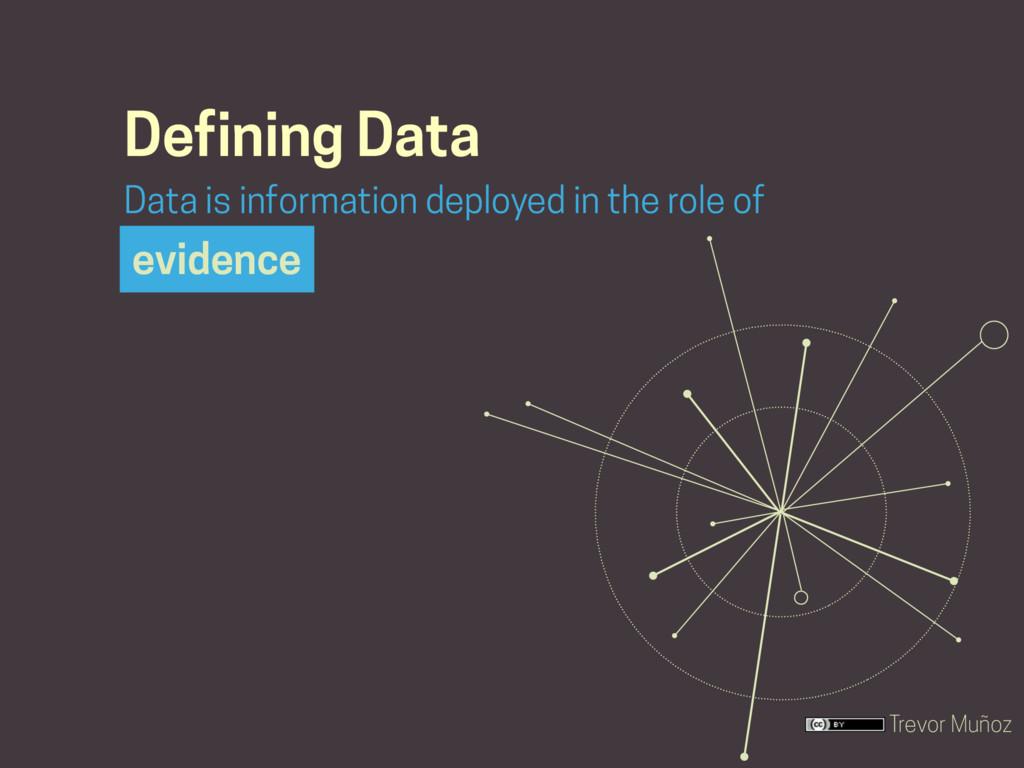 Trevor Muñoz Defining Data evidence Data is inf...