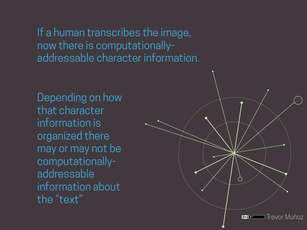 Trevor Muñoz If a human transcribes the image, ...