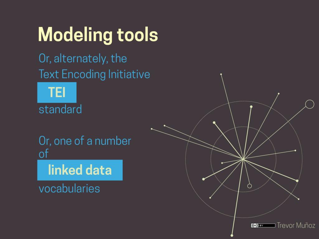 Trevor Muñoz Modeling tools Or, alternately, th...
