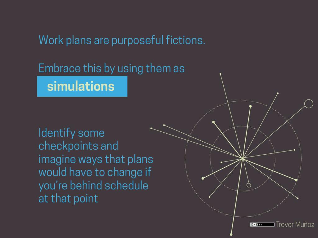 Trevor Muñoz Work plans are purposeful fictions...