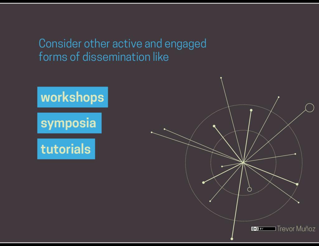 Trevor Muñoz workshops Consider other active an...