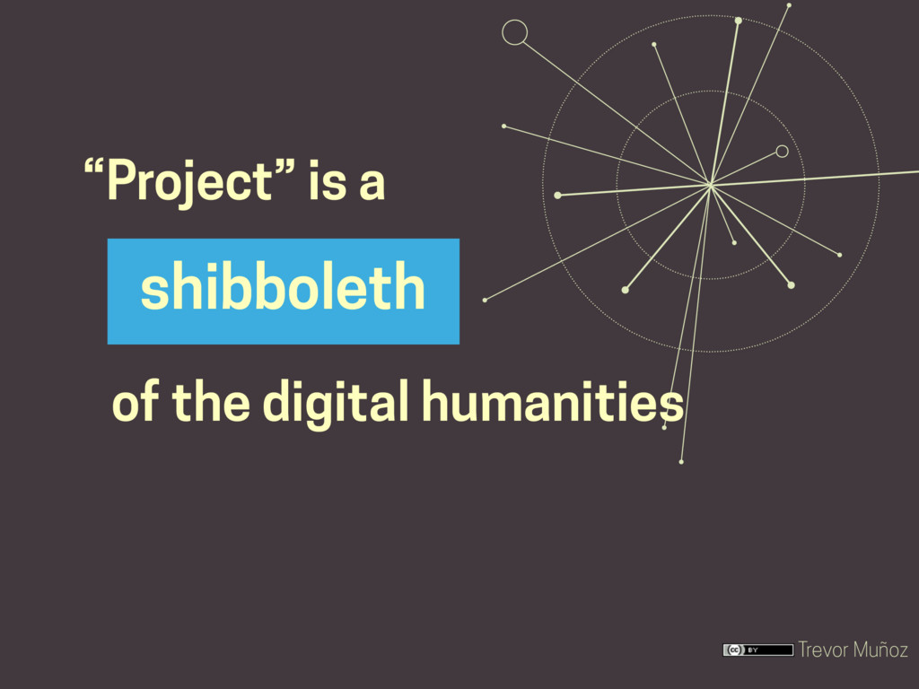 """Trevor Muñoz """"Project"""" is a shibboleth of the d..."""