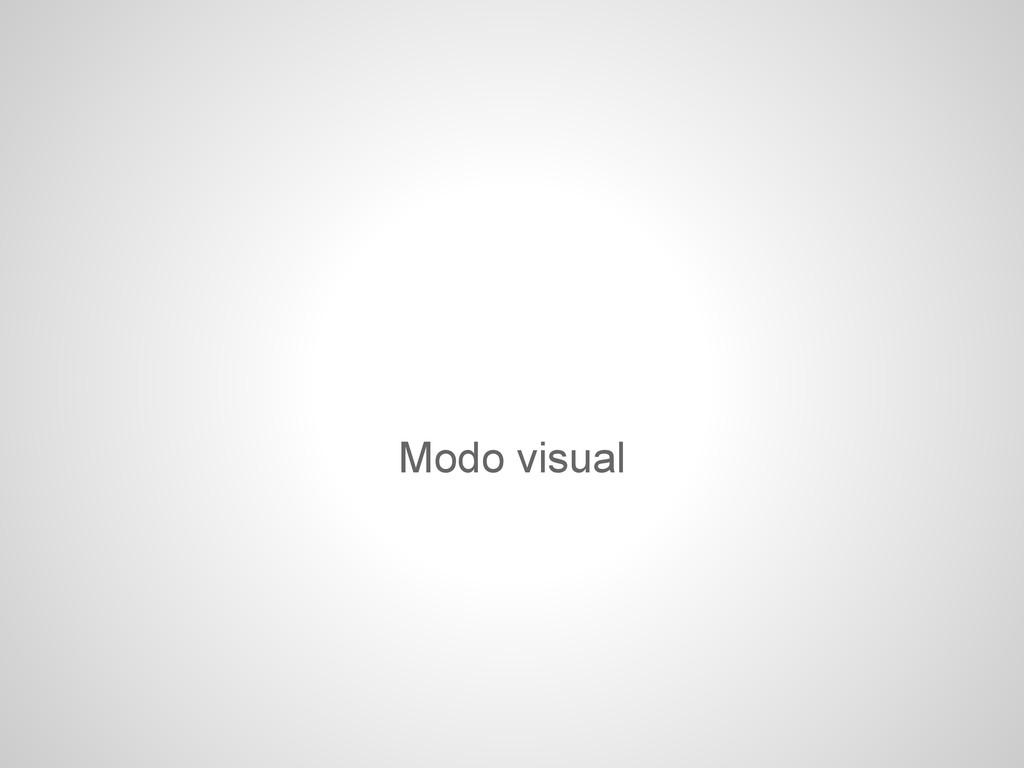 Modo visual