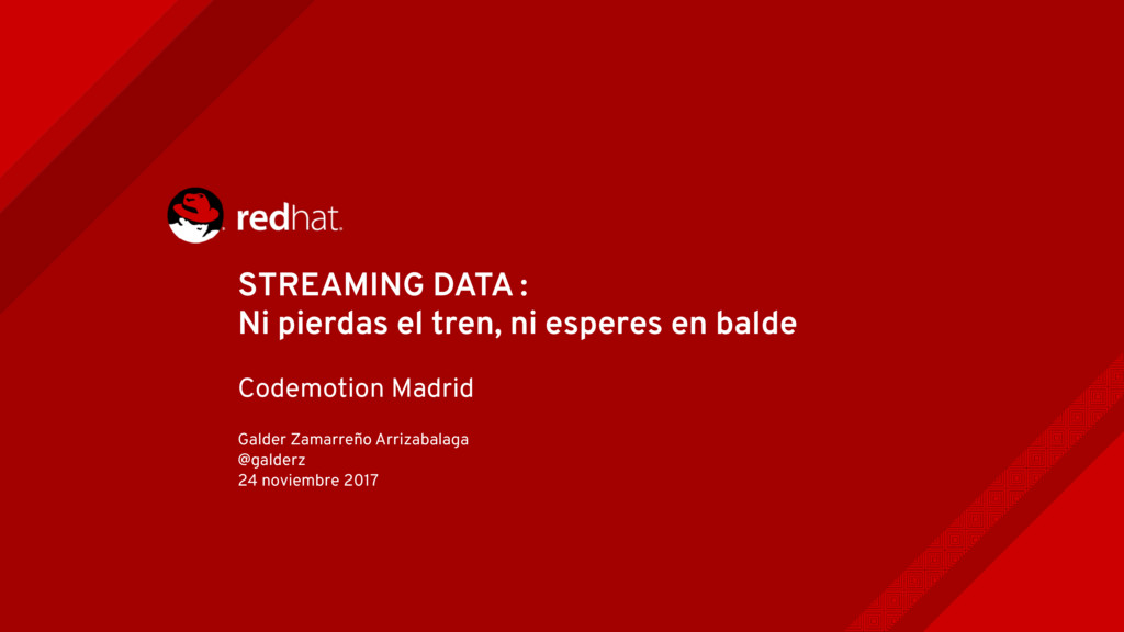 STREAMING DATA : Ni pierdas el tren, ni esperes...
