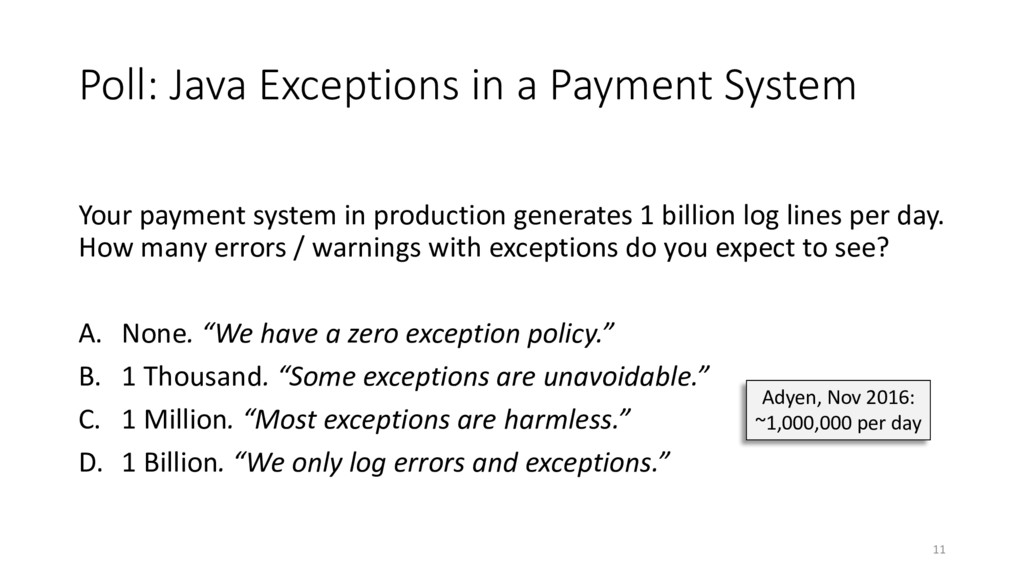 Poll: Java Exceptions in a Payment System Your ...