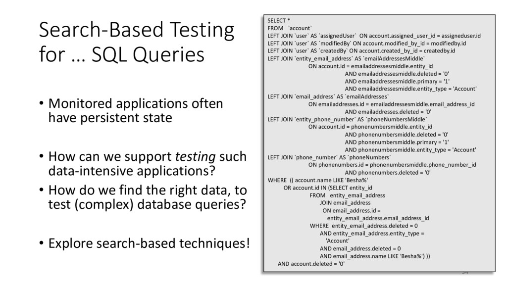 Search-Based Testing for … SQL Queries • Monito...