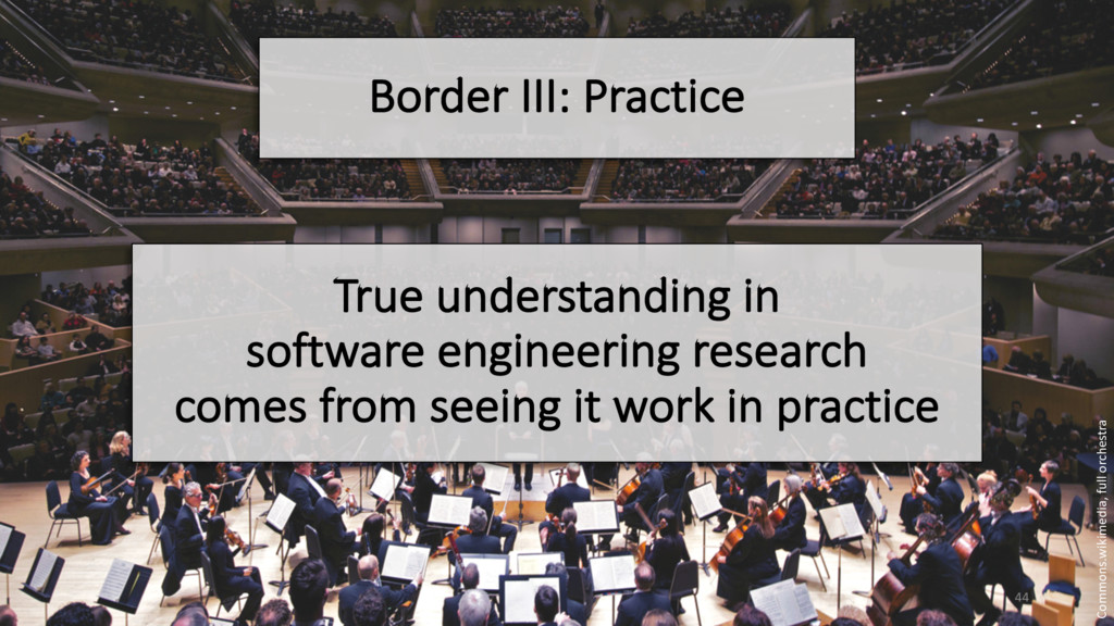 Border III: Practice True understanding in soft...