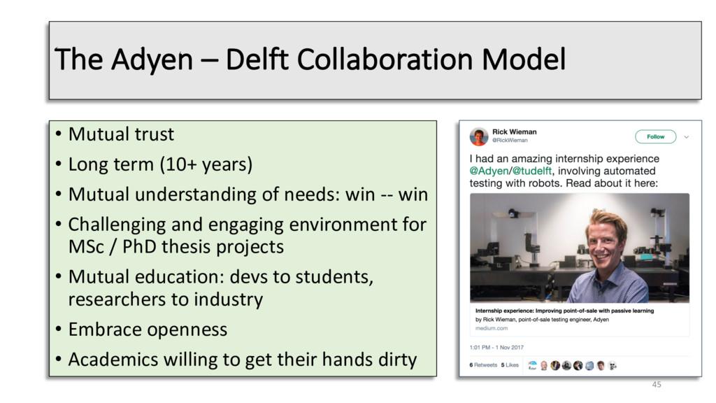 The Adyen – Delft Collaboration Model • Mutual ...