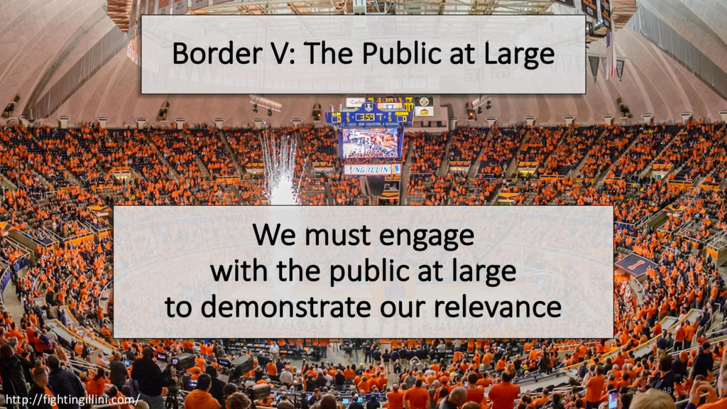 Border V: The Public at Large We must engage wi...