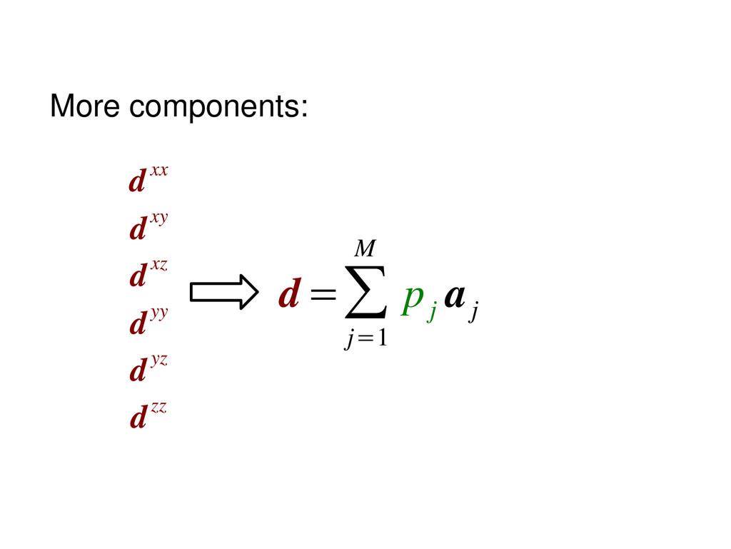 d dxx dxy dxz dyy dyz dzz =∑ j=1 M p j a j More...