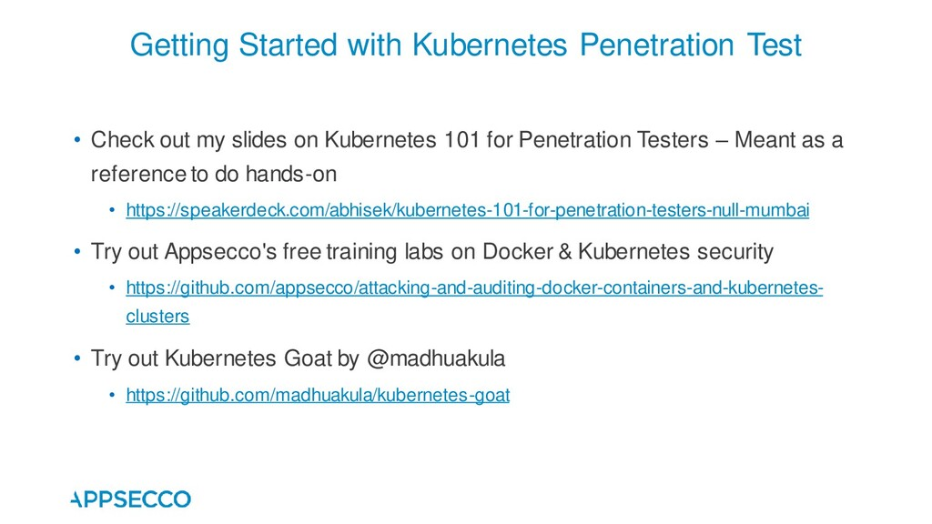 • Check out my slides on Kubernetes 101 for Pen...