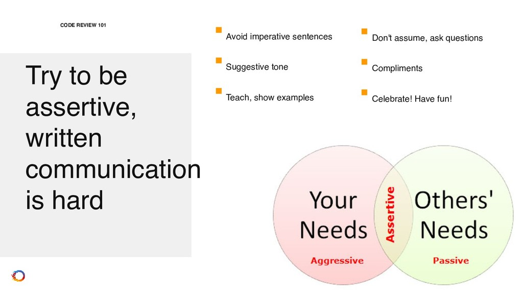 Try to be assertive, written communication is ...