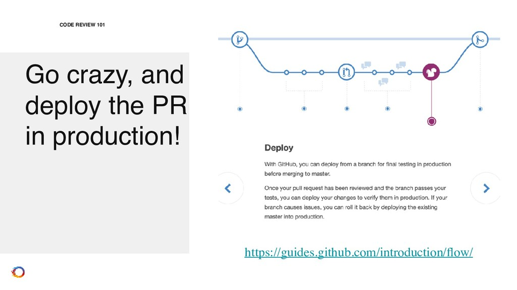 Go crazy, and deploy the PR in production! CODE...