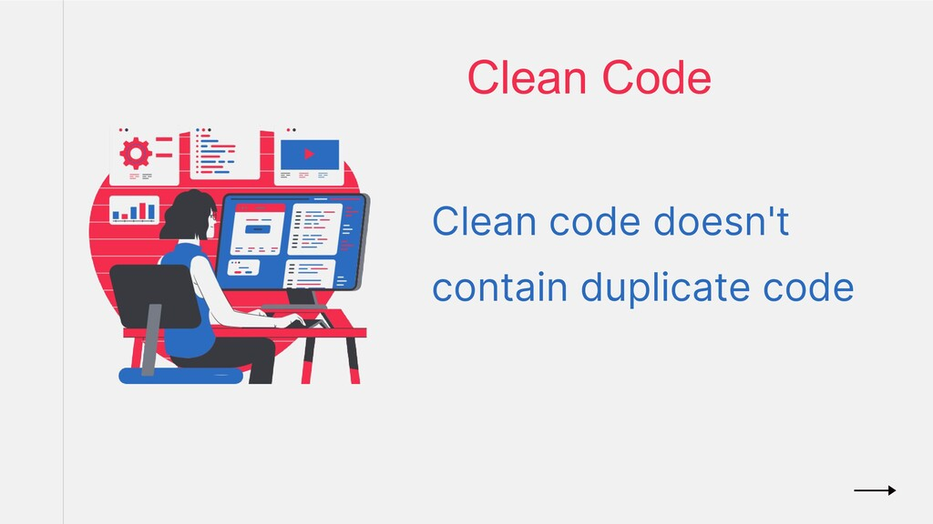 Clean Code Clean code doesn't contain duplicate...