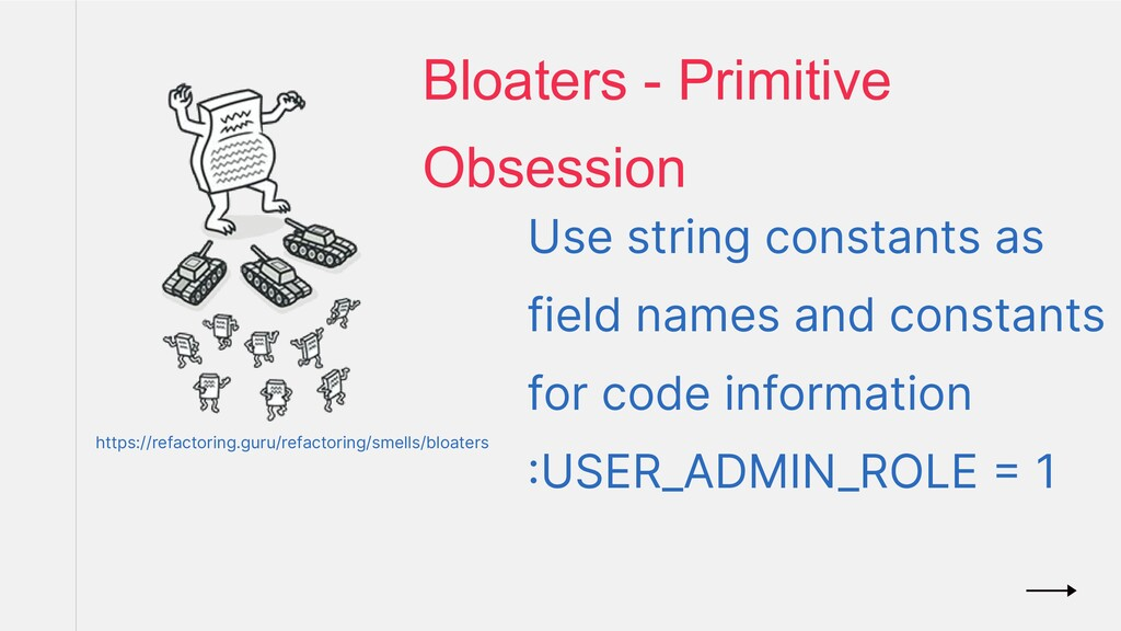 Use string constants as field names and constan...