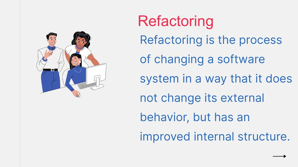 Refactoring is the process of changing a softwa...