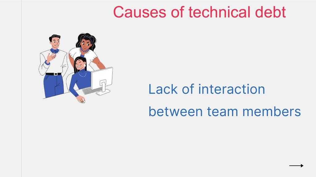 Lack of interaction between team members Causes...