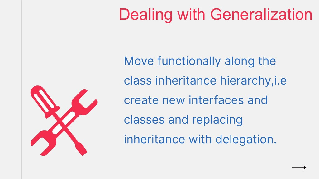 Move functionally along the class inheritance h...