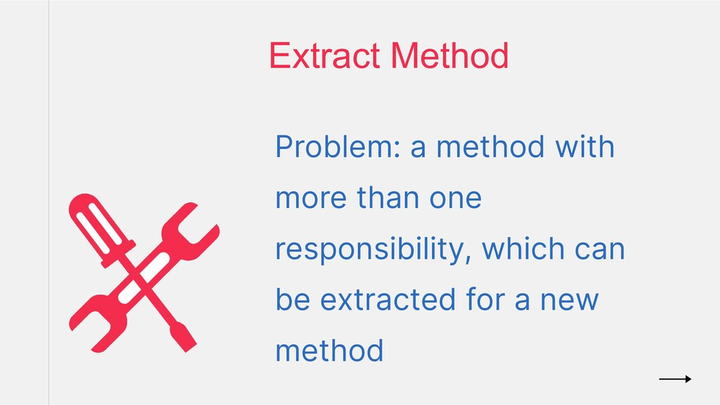 Problem: a method with more than one responsibi...