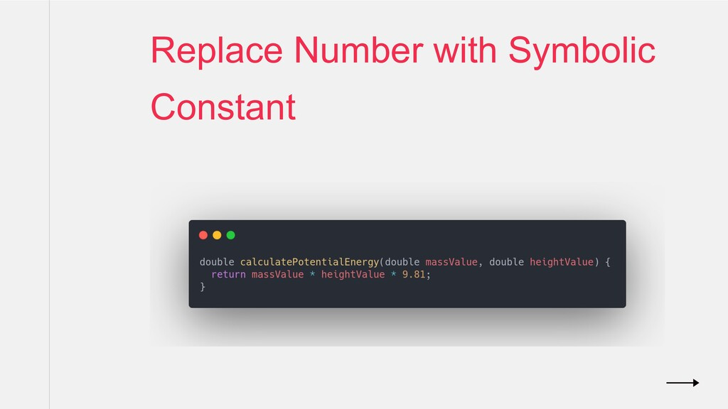 Replace Number with Symbolic Constant