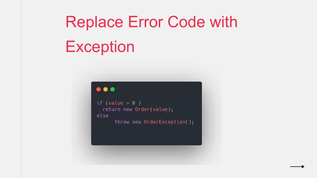 Replace Error Code with Exception