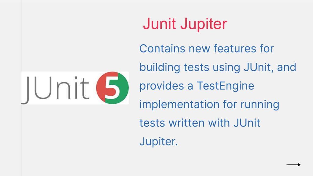 Contains new features for building tests using ...