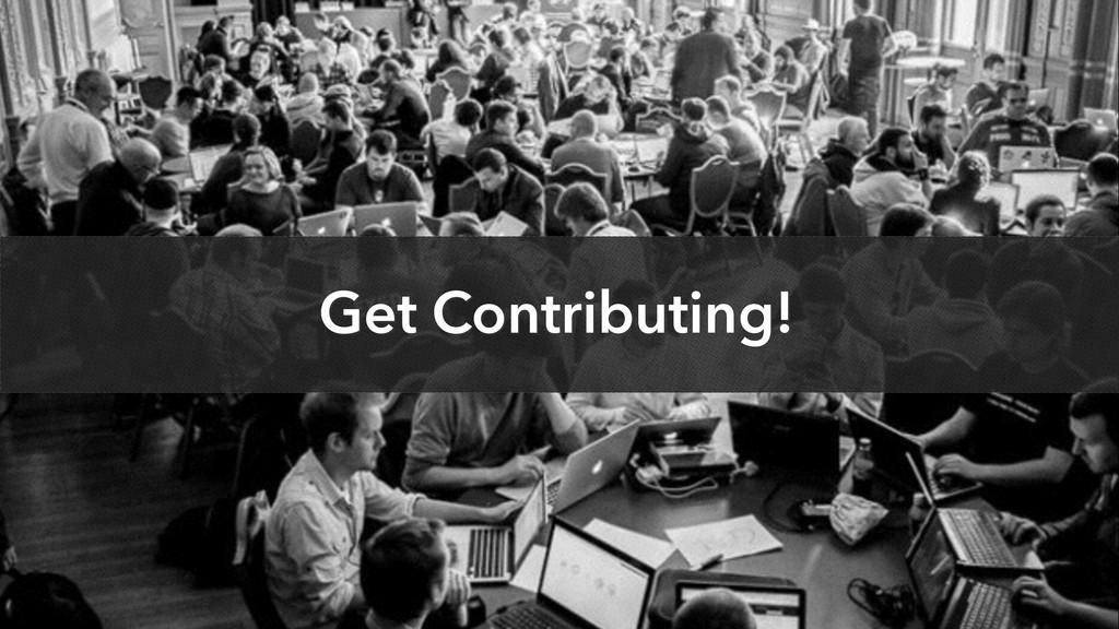 Get Contributing!