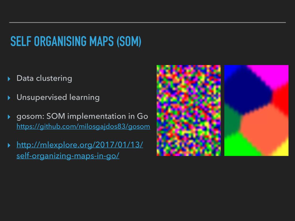 SELF ORGANISING MAPS (SOM) ▸ Data clustering ▸ ...