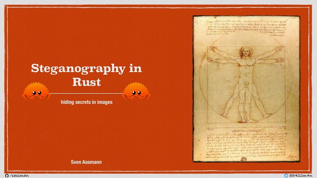 Steganography in Rust hiding secrets in images ...