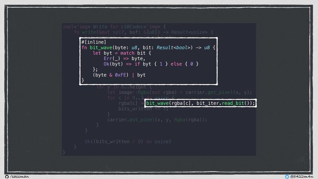 impl<'img> Write for LSBCodec<'img> { fn write(...