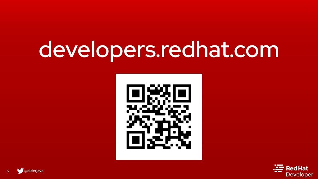@elderjava 5 developers.redhat.com